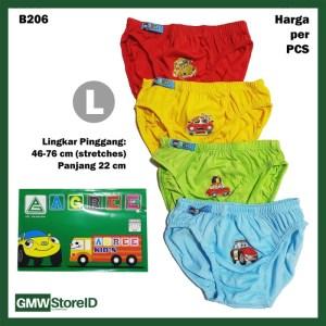 B206 CD Anak L Warna Cowok Laki Sablon Car Celana Dalam Agree Kids SNI