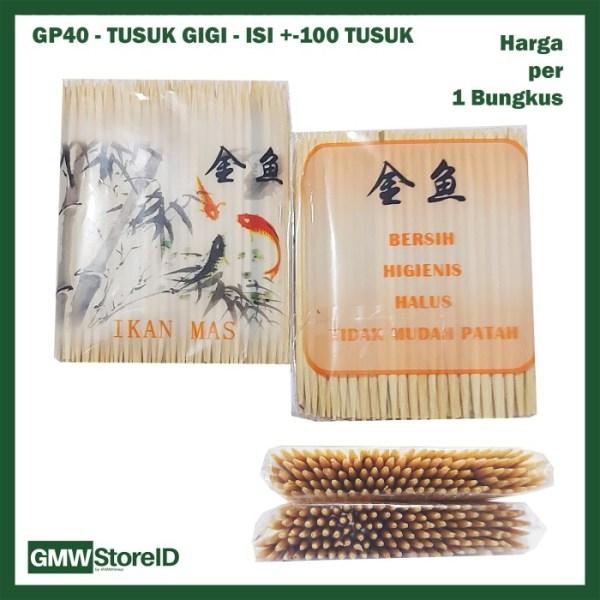 GP40 Grosir Tusuk Gigi Cap IKAN MAS isi 100 Sticks Toothpick Higienis
