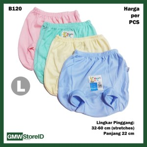 B120 Celana Dalam Bayi L Katun Warna CD Pop Baby Pants Lembut SNI