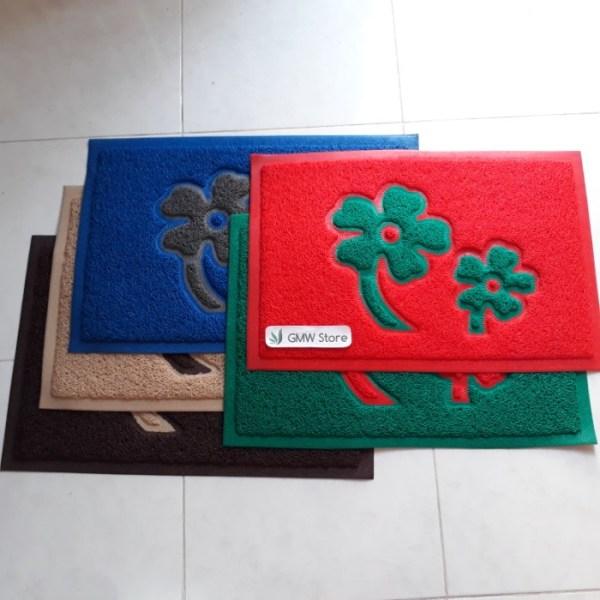 Keset Karet Plastik Motif Bunga N841
