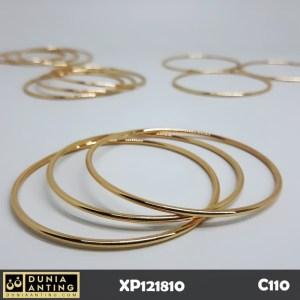 C110 Gelang Bracelet Keroncong Isi 3 Lapis Emas 18K Imitasi Polos