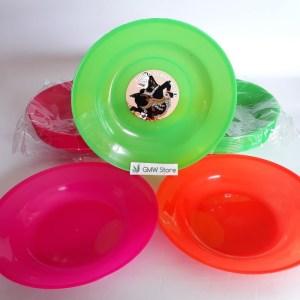 Piring Plastik Polos Warna Warni diameter 20 cm W270