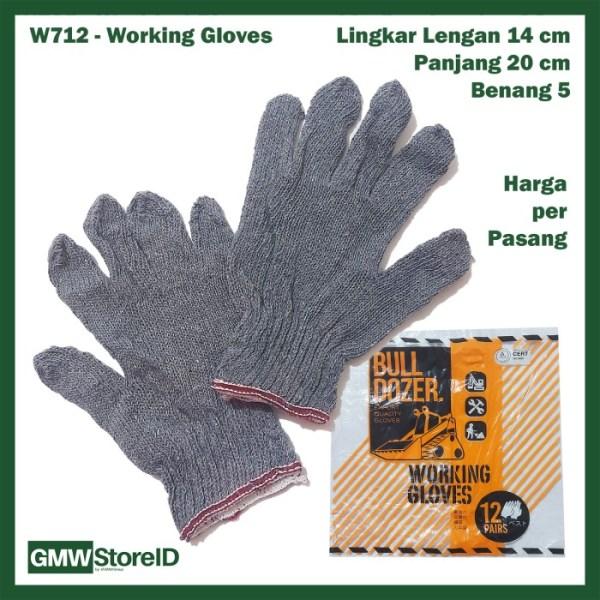 Sarung Tangan Kerja Working Safety Gloves Bulldozer P-5 Murah W712
