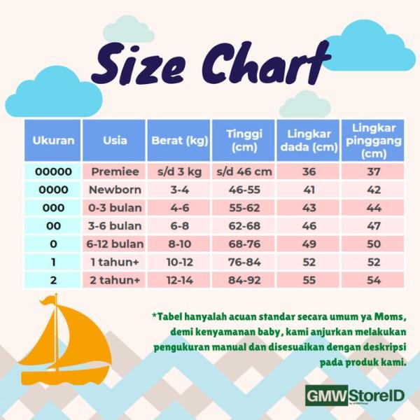 B108 Baju Bayi Lengan Pendek T-Shirt M Katun Warna Baby Clothes SNI