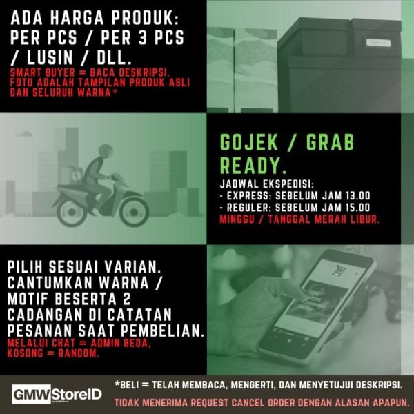 W722 Kaos Kaki Casual Sport Pendek Motif Warna Garis Pria Men A22