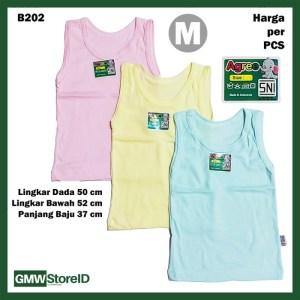 B202 Singlet Bayi Size M Warna Unisex Kaos Dalam Medium Agree Baby SNI