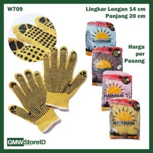 Sarung Tangan Kerja Matahari Antislip Proyek Gloves Safety Murah W709