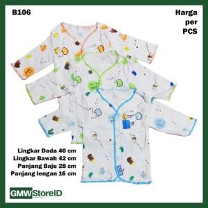 B106 Baju Bayi Lengan Panjang Kancing Katun Laki Boy Baby Clothes SNI