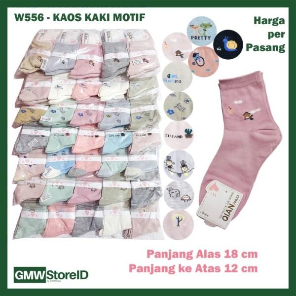 W556 Kaos Kaki Wanita Women Socks Ladies Jari Jempol Murah Tipe E10