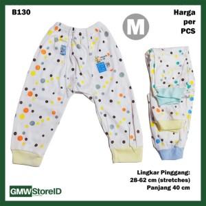 B130 Celana Panjang Bayi Size M Motif Polkadot Baby Pants Unisex SNI