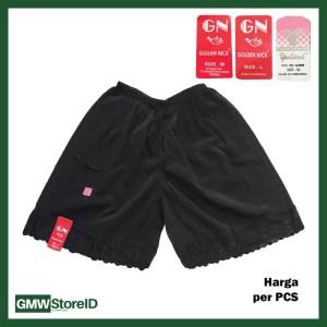 Androk Hitam Wanita Celana Kulot Pendek Perempuan Renda GN Yutind F61