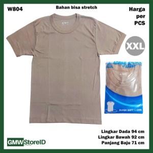 Kaos Oblong Coklat Pria Baju Laki-Laki Brown Agree T-Shirt Men F36