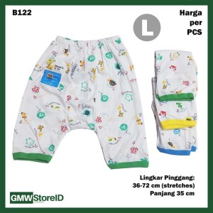 B122 Celana Pendek Bayi Size L Motif Warna Baby Clothes Unisex SNI