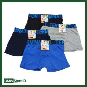 W630 Boxer Laki-Laki Warna Celana Dalam Pria Karet Pinggang Tipe I08