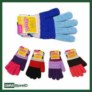 W634 Sarung Tangan Pria Wanita Dewasa Glove Motif Garis Warna Tipe B07
