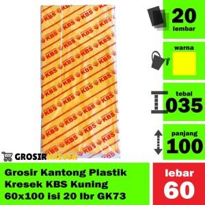 Grosir Kantong Plastik Kresek Sampah KBS Kuning 60x100 isi 20 lbr GK73