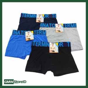 W631 Boxer Laki-Laki Warna CD Pria Men Underwear Polos Karet Tipe I09