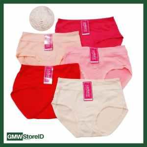 W604 CD Wanita Celana Dalam Cewek Warna Motif Timbul Underwear J21