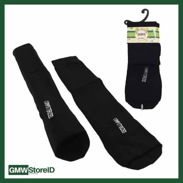W594 Kaos Kaki Wudhu Warna Hitam Women Socks Perempuan Portable - E21