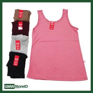 W429 Singlet Wanita Kaos Dalam Cewek GN Size M - Halus Polos Warna