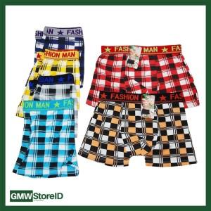 W421 Boxer Cowok Celana Pria Ban Karet Allsize Tipe I03 - Men Motif