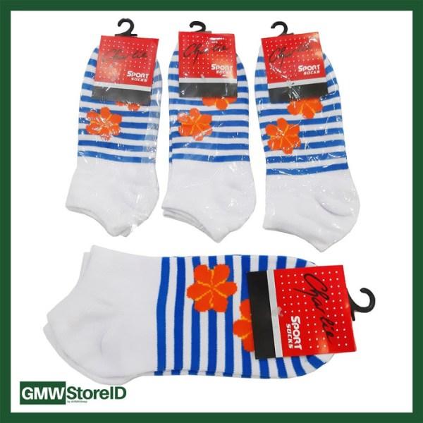 W402 Kaos Kaki Olahraga Wanita Tipe E01 - Women Sport Socks Motif