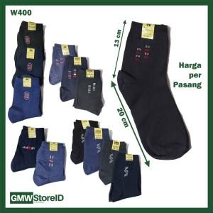 W400 Kaos Kaki Olahraga Pria Cowok Tipe A05 - Men Sport Socks Murah