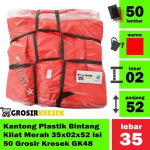 Kantong Plastik Bintang Kilat Merah 35x02x52 isi 50 Grosir Kresek GK48