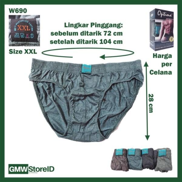 CD Jumbo Pria Celana Dalam Laki-Laki Besar OPTIMA Size XXL-XXXXL I17