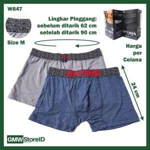 Boxer Optima M L XL XXL CD Cowok Laki-Laki Karet Men Underwear I11