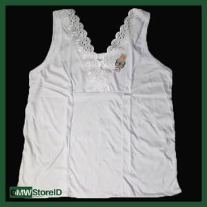 Singlet Atasan Perempuan Daleman Putih Polos XL Adiler 070 W192
