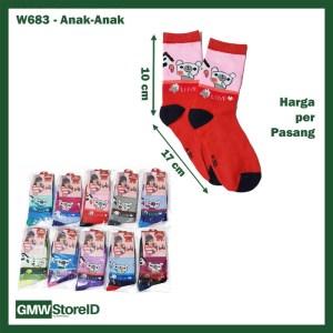 W683 Kaos Kaki Wanita Warna Cewek Remaja School Bahan Nyaman Murah E34