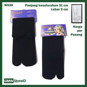 W639 Kaos Kaki Wanita Women Warna Hitam Ankle Socks Pendek Jempol E27