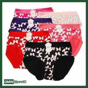 W605 CD Wanita Underwear Cewek Warna Motif Elegan Celana Dalam J22