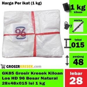 GK85 Grosir Kresek Kiloan Los HD 96 Besar Natural 28x48x015 isi 1 kg