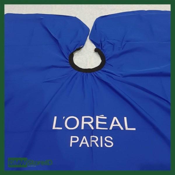 Kep Potong Rambut Salon Loreal Paris Jas Cukur Biru Polos Tebal C211