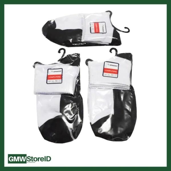 Kaos Kaki Putih Alas Hitam Pendek SMA Socks N822