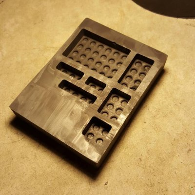 This is our Graphite Lego Block Mold