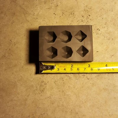This is our Graphite Gemstone Mold