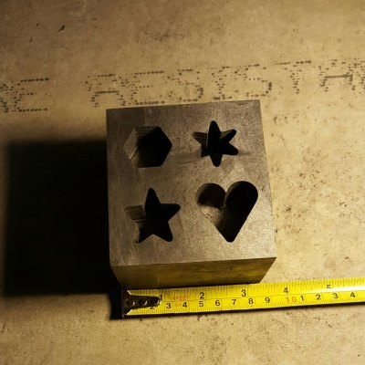 This is our Graphite Multi Shape Mold