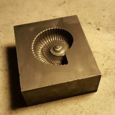 This is our Graphite Fossil mold