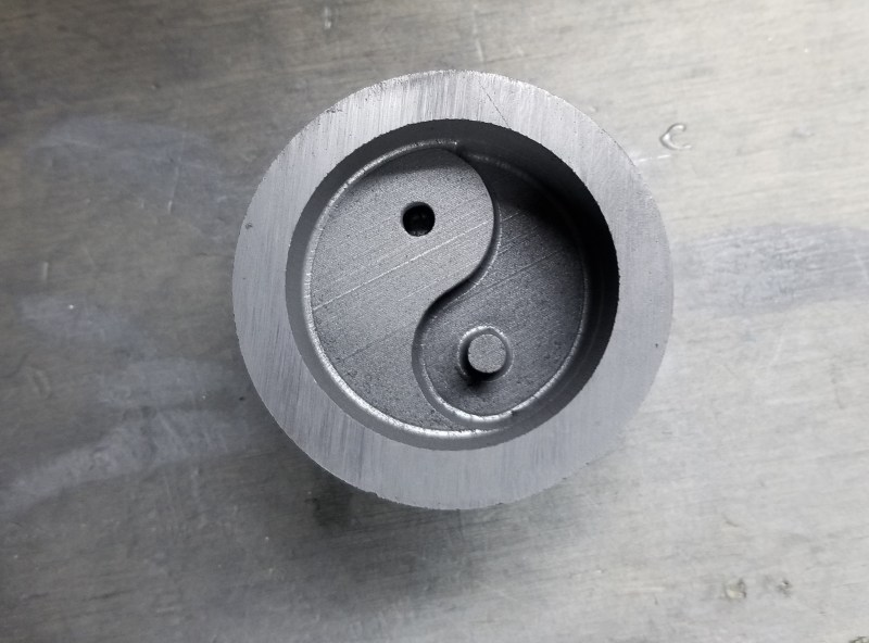 This is our Graphite Yin Yang Mold