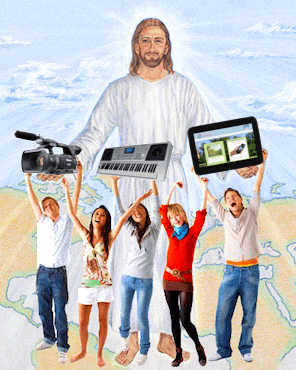 people serving Jesus with media tools