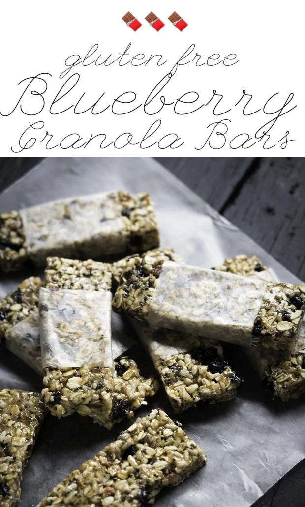 Gluten Free Blueberry Granola Bars