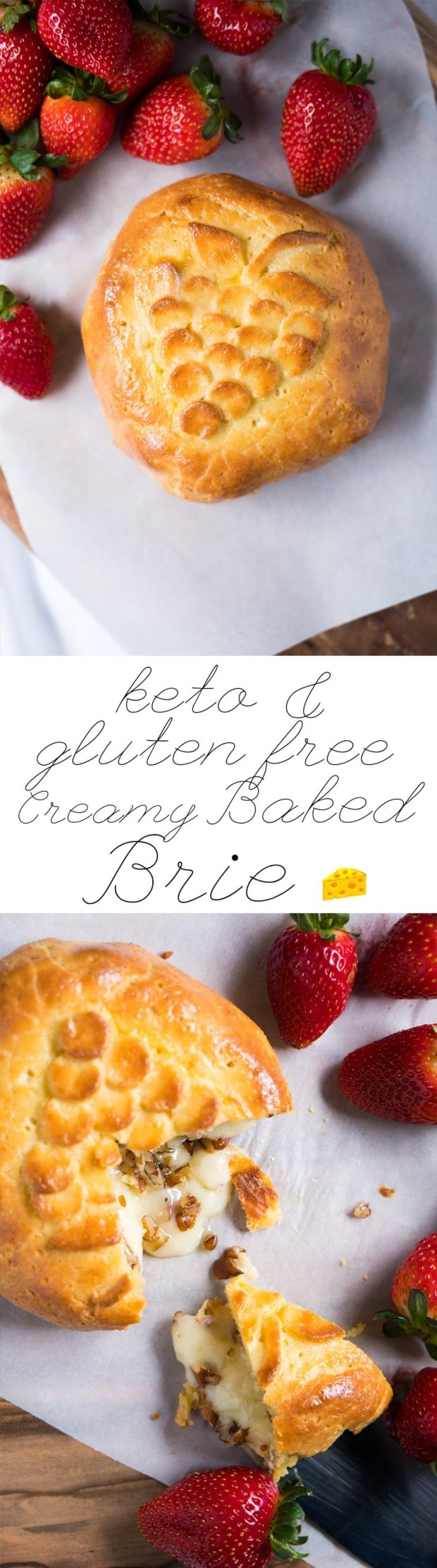 Gluten Free & Keto Baked Brie 🧀 ridiculously creamy!