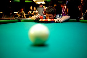 Robert Bragg at Le Snooker. (Photo by Hylke Bons.)