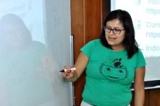 Julita Inca during marketing workshop