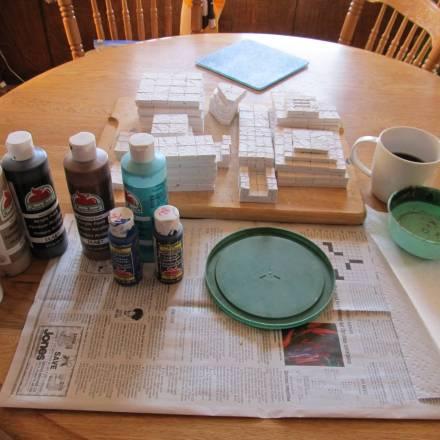 Troy's Crock Pot: Building Terrain with One Tile Mold, Part 3