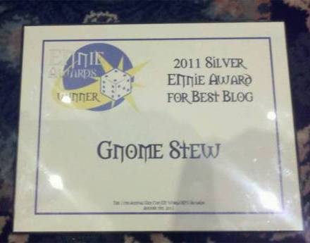 Gnome Stew Won the Silver ENnie for Best Blog!