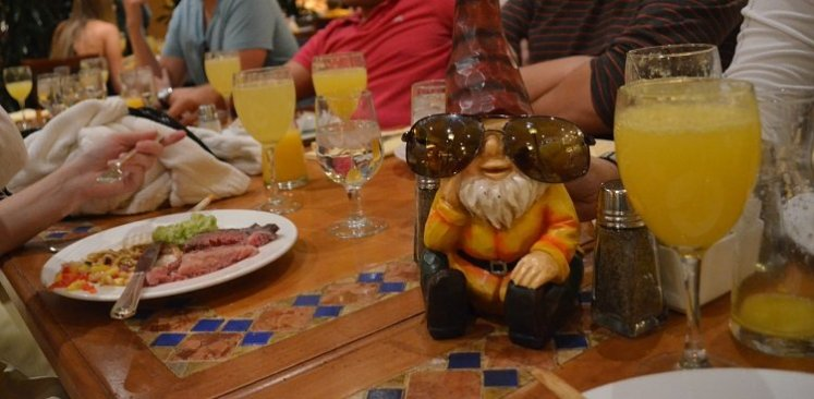 The last picture of Honky the gnome still intact.